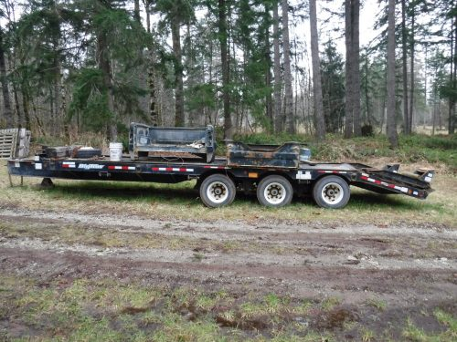 tridem equipment trailer